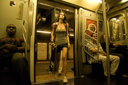 Subway Girl Travel By skate Too