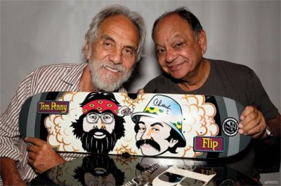 I Love Cheech Marin & Tommy Chong Here With A Flip Tribute Board
