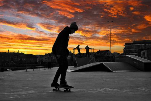 Skateboarding From Dusk Til Dawn