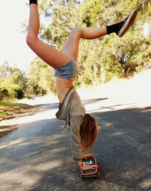 Фото девушек на скейте на аву