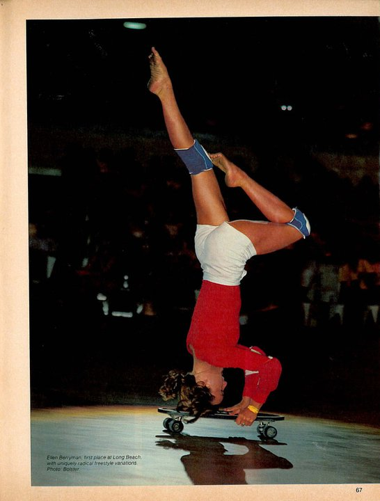 Ellen Berryman performing at the World Championships in Long Beach 1977