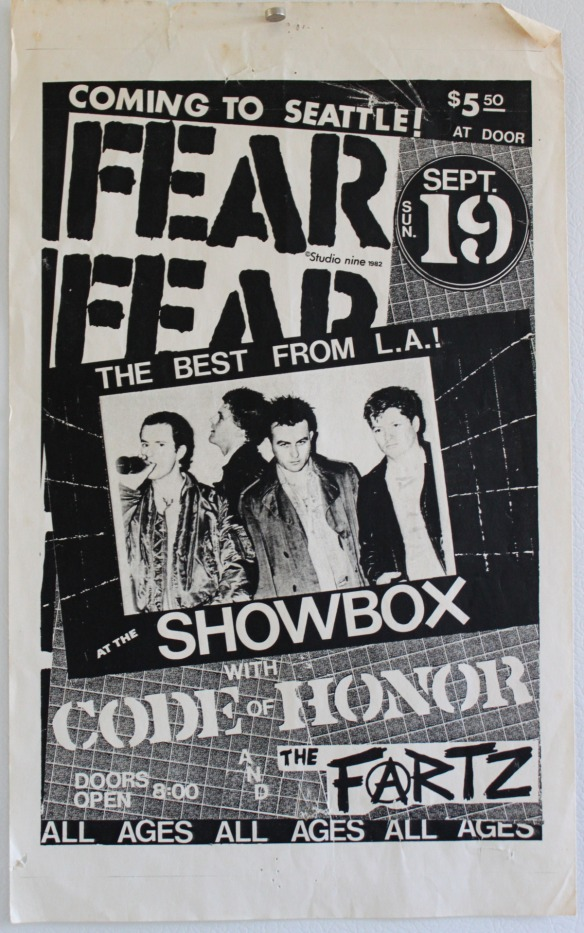 Fear, Code of Honor The Fartz flyer Seattle l2