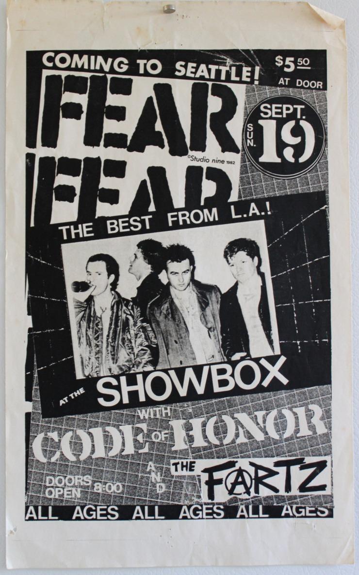 Fear, Code of Honor The Fartz flyer Seattle l2
