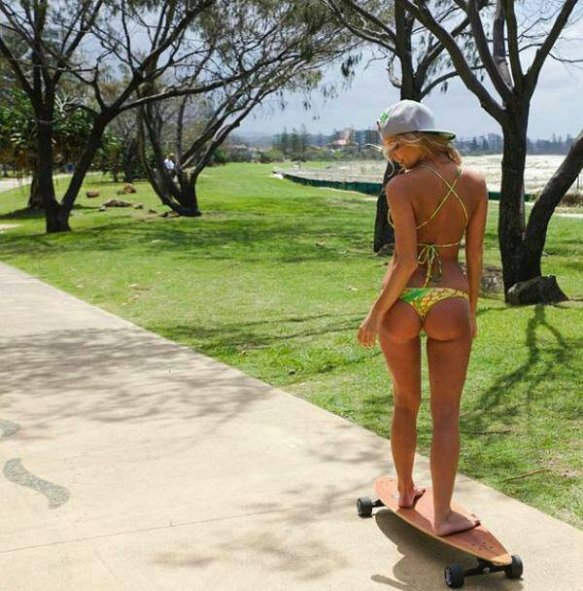 Girl Skater Longboarder