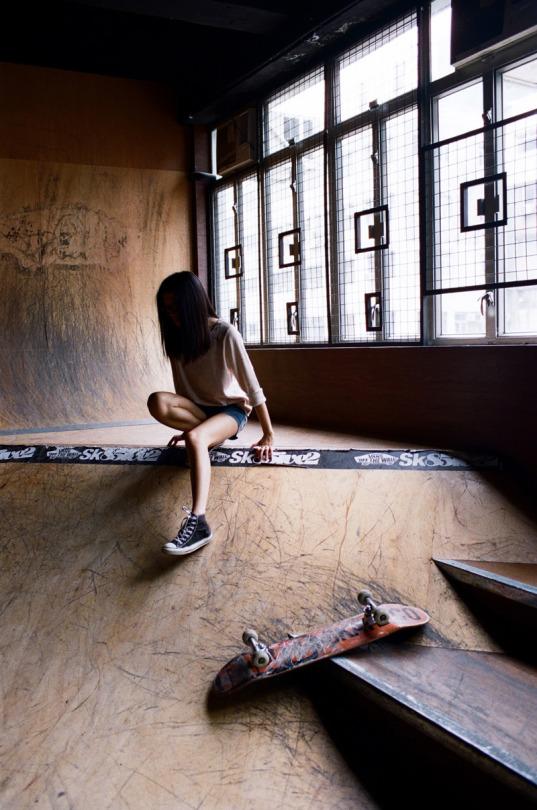 Girl Skater Ramp