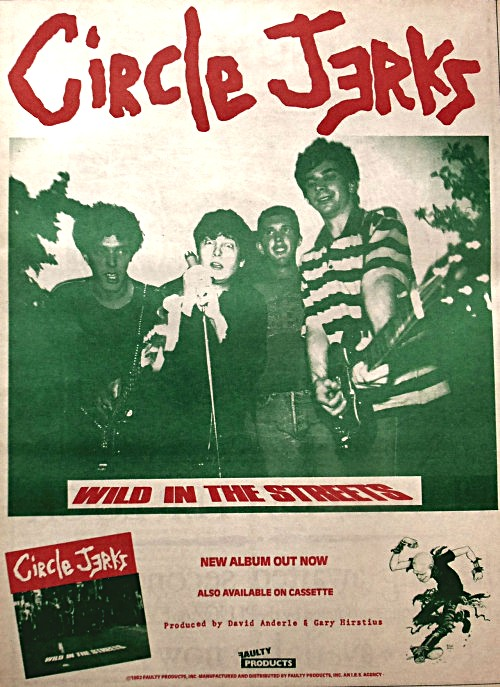 Circle Jerks Willd In The Streets